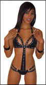 Blue Orchid Exoticwear Starlight Romper with Rhinestone and Studs