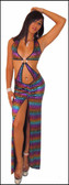 Blue Orchid Exoticwear Acapulco Gown with Thong
