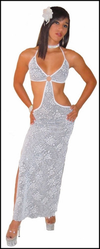Blue Orchid Exoticwear Teeze Gown with Thong
