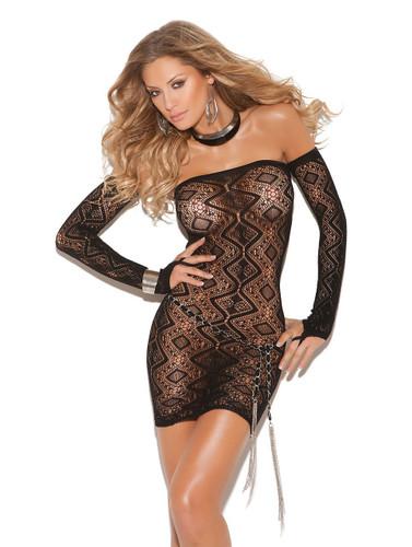 Elegant Moments Bandeau Dress - Black