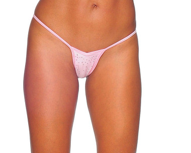 BodyZone V Front Thong - Baby Pink