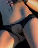 Fearless And Fun Lingerie Open Panties with Cross Straps