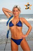Starwear USA Xanthus Full Cut Bottom and Triangle Top Bikini Swimsuit - Navy