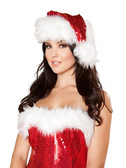 Roma Costume Fur trimmed Sequin Christmas Hat