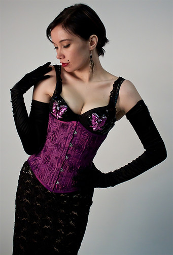 Timeless Trends Cosplay Purple Corset