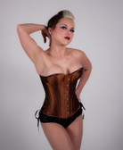 Timeless Trends Iridescent Rusted Brown Overbust