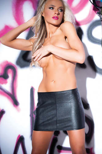 Allure Lingerie Faux Leather Wild Child Skirt