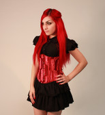 Timeless Trends Radiant Red Velvet Corset
