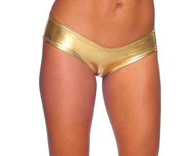 Bodyzone Foil Scrunch Back Super Micro Shorts - Gold