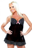 Fantasy Lingerie Underwire Babydoll and G-String Panty