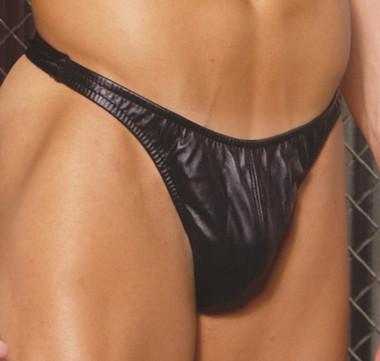 Elegant Moments Leather thong. Black