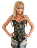 Daisy Corset Plus Size Strapless Camouflage Corset