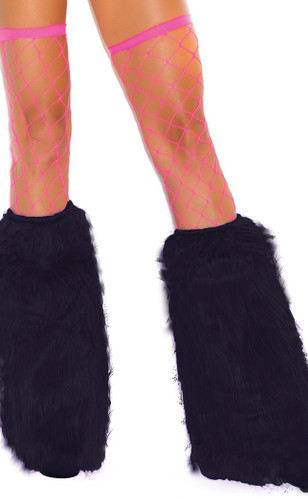 Elegant Moments Furry Boot Covers - Black