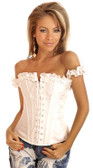 Daisy Corset Embroidered Peasant Corset Top