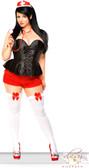 Daisy Corset 3Pc Dark Nurse Corset Costume