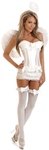 Daisy Corset 4Pc Burlesque Angel Corset Costume