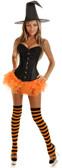 Daisy Corset 4Pc Glitter Pin-Up Witch Costume