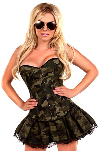Daisy Corset 3Pc Sexy Army Girl Costume