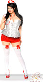 Daisy Corset 3Pc White Nurse Corset Costume