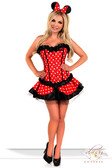 "Daisy Corset 3Pc Sexy ""Miss Mouse"" Costume"