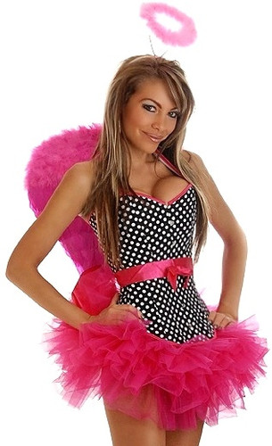 "Daisy Corset 4Pc Pin-Up ""Rockabilly Angel"" Costume"