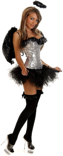 Daisy Corset 4Pc Sequin Dark Angel Costume