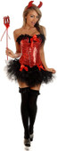 "Daisy Corset 4Pc ""Pin-Up Devil"" Costume"