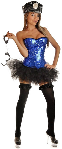 "Daisy Corset 4Pc ""Pin-Up Cop"" Costume"