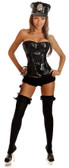 Daisy Corset 3Pc Sequin Cop Costume