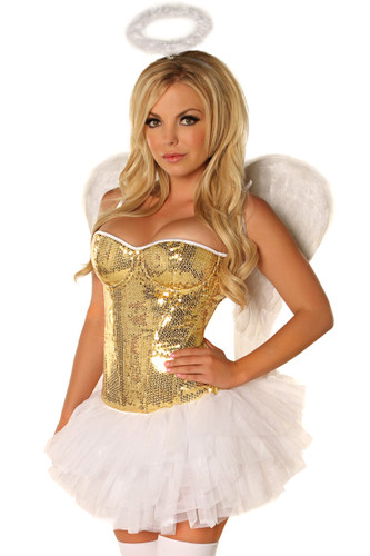 Daisy Corset 4Pc Glitter Angel Costume