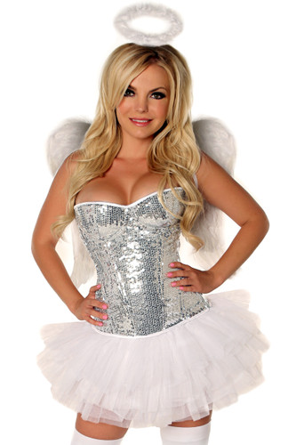 "Daisy Corset 4 PC ""Glitter Angel""  Costume"