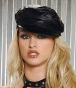 Elegant Moments Leather hat Men s or woman s. Black