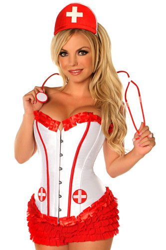 Daisy Corset 4Pc Sexy Nurse Costume