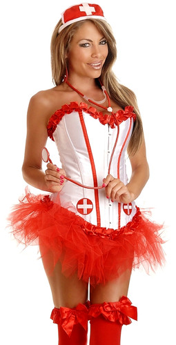 Daisy Corset 4 Pc Sexy Nurse Costume