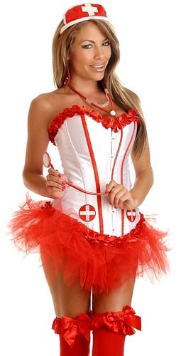 Daisy Corset 4 Pc Sexy Nurse Costume