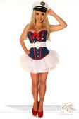 Daisy Corset 4Pc Sexy Marine Costume