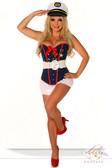 "Daisy Corset 4 Pc ""Sexy Marine"" Costume"