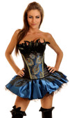 Daisy Corset 2Pc Pin-Up Peacock Costume