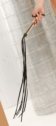 Elegant Moments Leather Whip with Silver Handle
