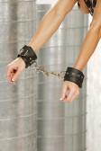 Elegant Moments Leather Wrist Restraints with eyelets