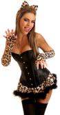 Daisy Corset 4Pc Sexy Leopard Costume