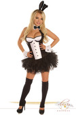 "Daisy Corset 5 Pc Sexy ""Tuxedo Bunny"" Costume"