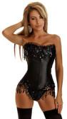 Daisy Corset Black Sequin Burlesque Corset