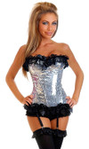 Daisy Corset Silver Sequin Pin-Up Burlesque Corset