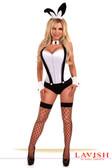 Daisy Corset 5Pc White Tuxedo Bunny Costume