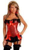 Daisy Corset Red Sequin Burlesque Underwire Corset