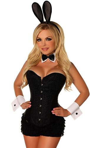 Daisy Corset 5 Pc Black Tuxedo Bunny Costume