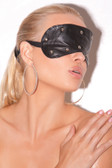 Elegant Moments Leather Blindfold with Studs