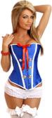"""Daisy Corset """"Sexy Sailor"""" Burlesque Corset"""