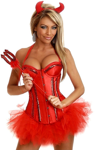 "Daisy Corset 4Pc ""Glitter Devil"" Costume"